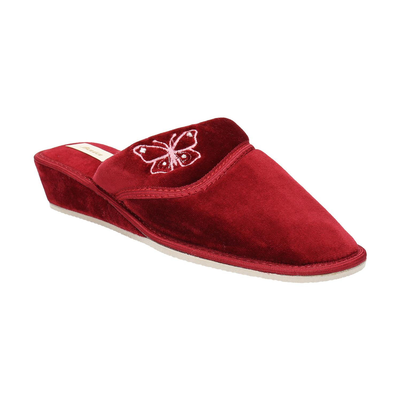 Baťa Dámská domácí obuv na klínovém podpatku - Domácí obuv  be5e6a36ea