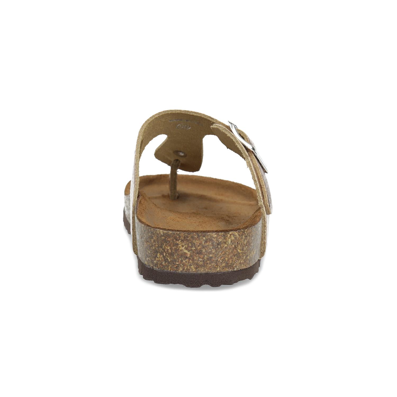 6f159135184a Baťa Kožené zlaté žabky s korkovou podešví - Všechny boty