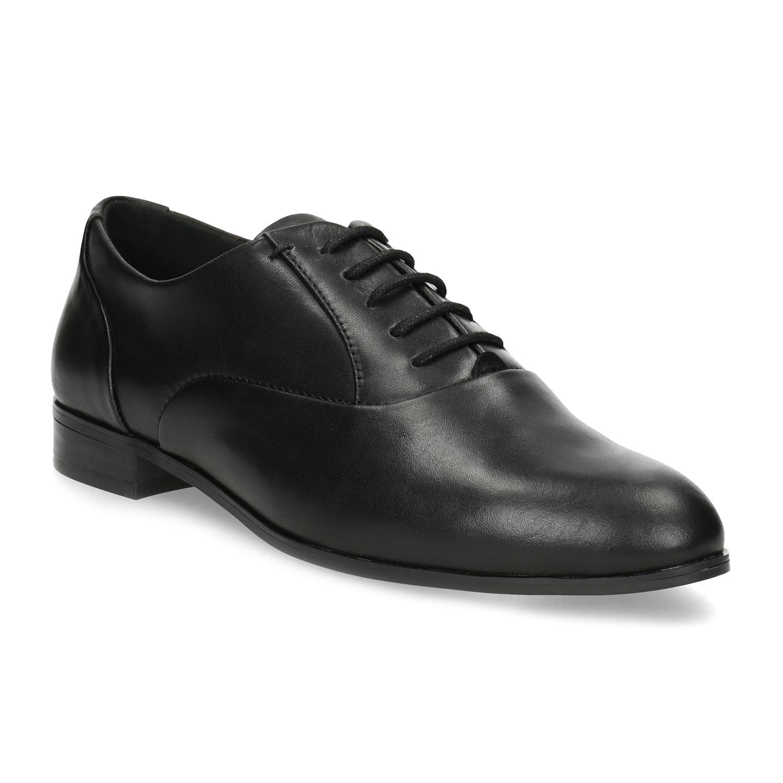 ef150ee86b3 Baťa Dámské kožené černé Oxfordky - Všechny boty