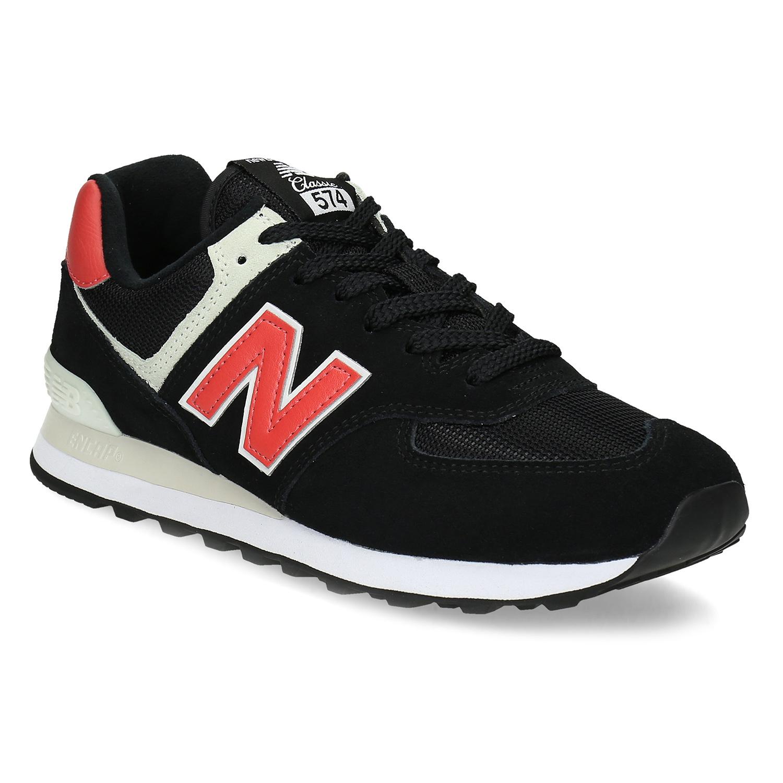 New Balance Černé pánské tenisky z broušené kůže - New Balance  dc43307788
