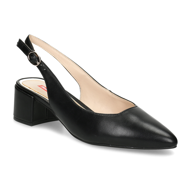 7e74924ce7d Bata Red Label Černé lodičky na nízkém podpatku - Všechny boty