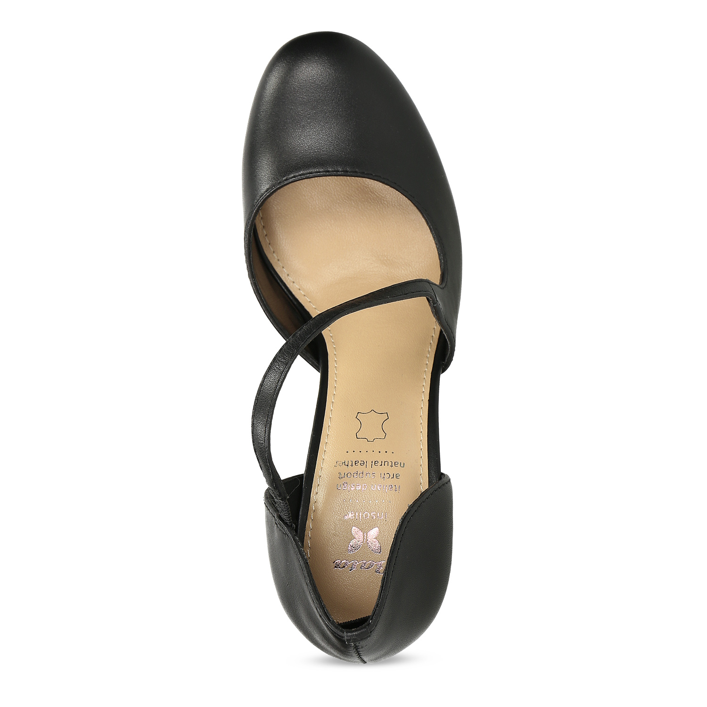 ae6232125d Insolia Černé kožené lodičky s asymetrickým páskem - Všechny boty ...